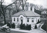 The West Michigan Tourist and Resort Association moved into this charming building still standing at 22 Sheldon NE in Fulton (now Veteran's Memorial) Park in 1936. (Carefree Days in West Michigan, 1939