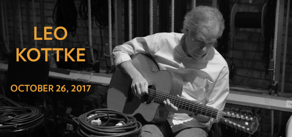 St. Cecilia Music Center Brings Amazing Guitarist Leo Kottke to Grand Rapids on Thursday, October 26th at 7:30pm