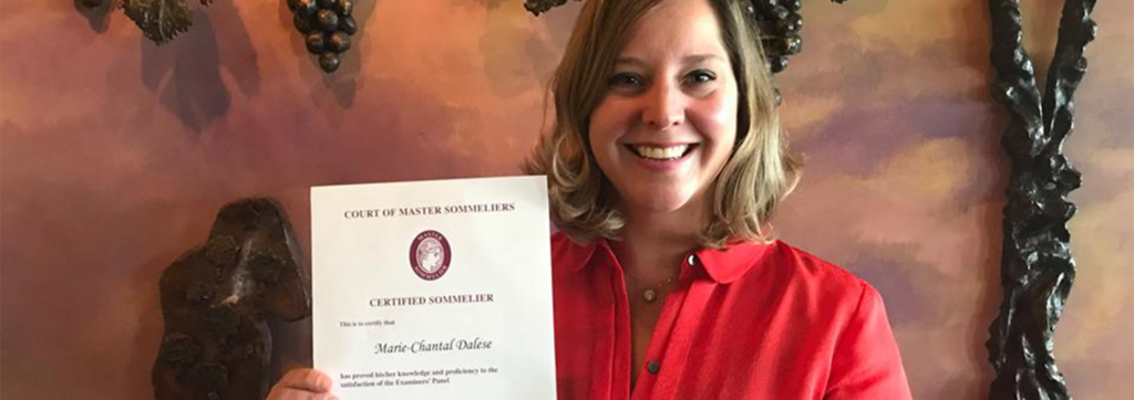 Chateau Chantal CEO Earns Certified Sommelier Certificate