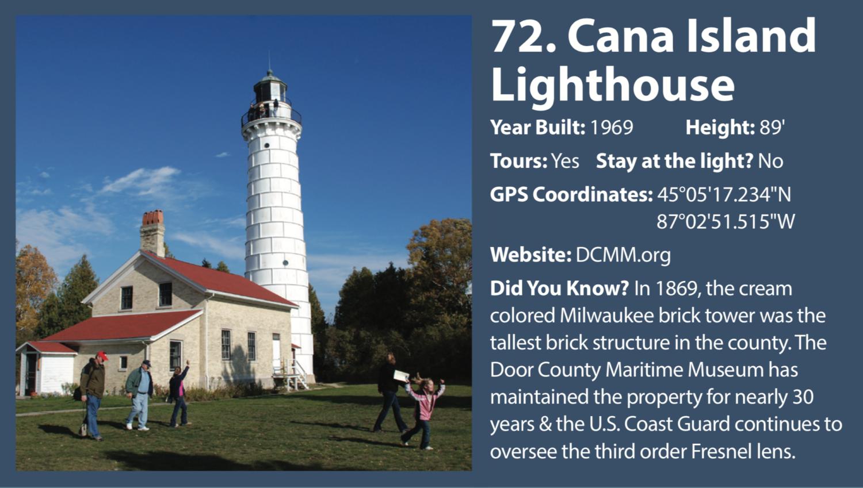 Cana Island Lighthouse West Michigan Tourist Association