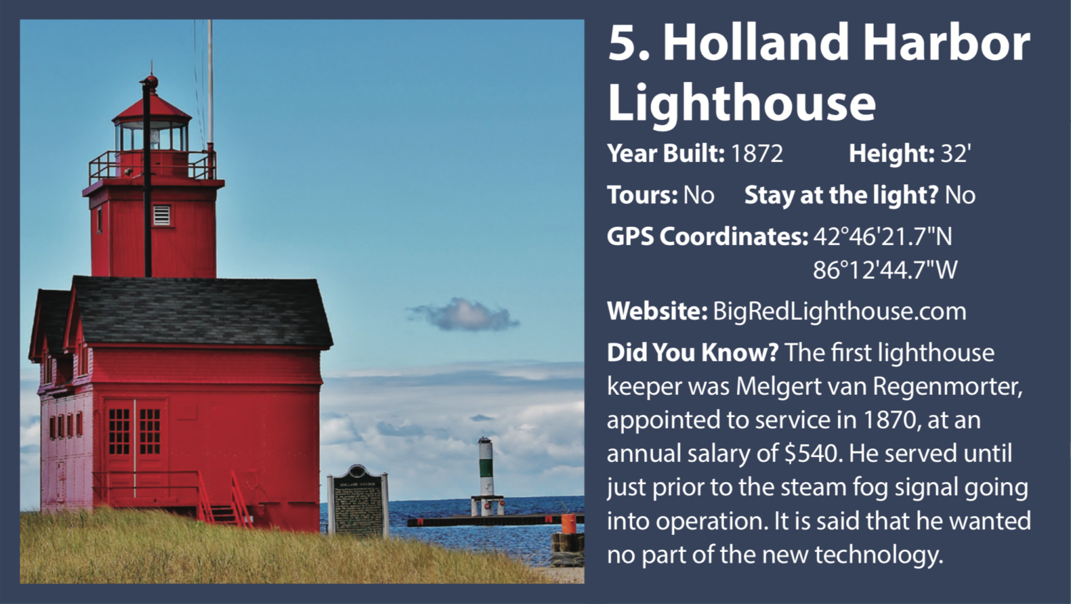 Holland Michigan Lighthouse Tours