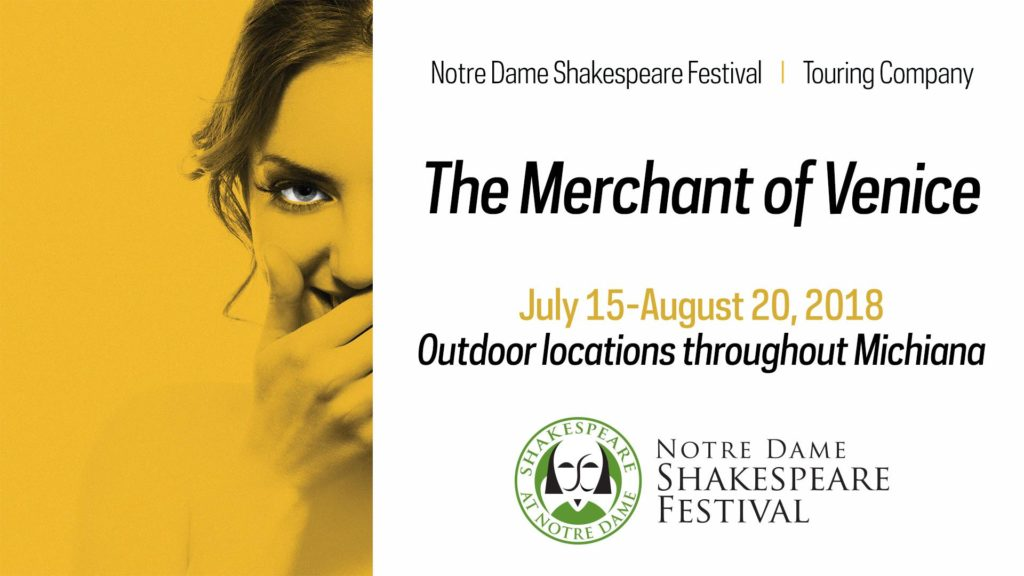 "Krasl Art Center Partners With The Notre Dame Shakespeare Festival to Present ""The Merchant of Venice"""