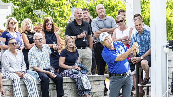 Golf and Grapes! David Frost visits Harbor Shores for private event with corporate partners.